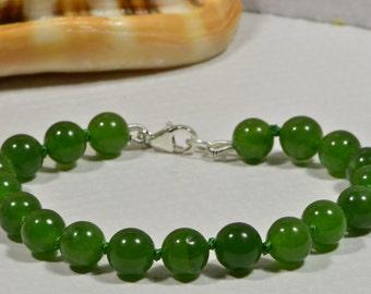 Jade Knotted Bracelet Mala Jewelry Beaded Bracelet Gemstone Bracelet