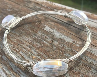 Clear Bead bangle bracelet