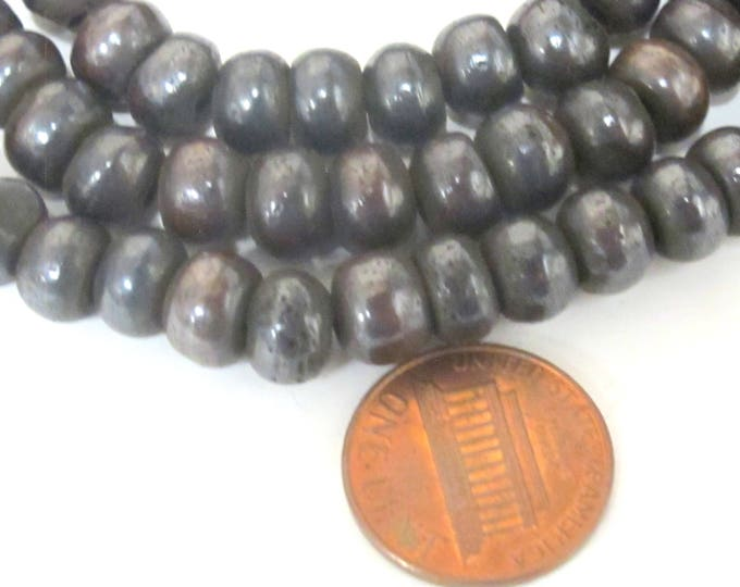 20 Beads - 8 mm Dark Brown black color Tibetan bone beads supply -   ML093B