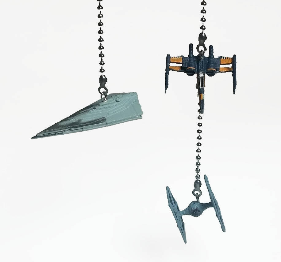 Star Wars Fan Pulls, Poeu0027s X Wing, Tie Fighter, Star Destroyer, Ceiling Fan  Pull, Lamp Pull, Star Wars Decor, Gift For Kids, Man Cave Decor
