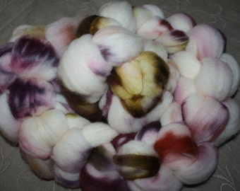 Hand Painted Superwash ~ Combed Top Wool Roving
