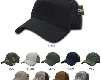 Tactical Low Crown Flex Fitting Mesh Back Cap (T81)