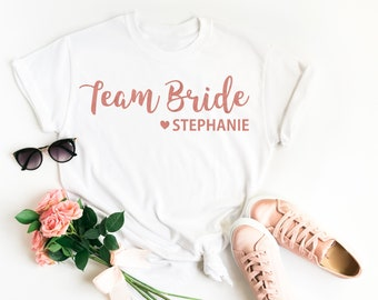 Team Bride Shirt | Personalised Team Bride | Team Bride Top | Team Bride T Shirt | Bridesmaid Gift | Hen Party T Shirt | Bridesmaid T Shirt