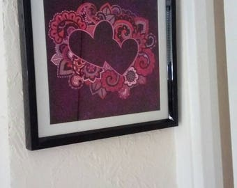 "Painting under glass ""heart"""