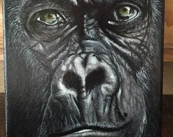 Gorilla Acrylic Painting