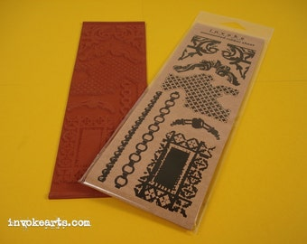 Fragments 1 / Invoke Arts Collage Rubber Stamps / Unmounted Stamp Set