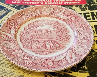 Wood & Sons Woodland Plate Red Transferware