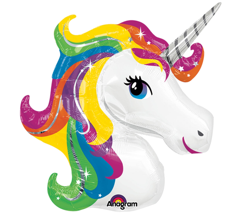 Unicorn Balloon Rainbow Unicorn Balloon Colorful Unicorn