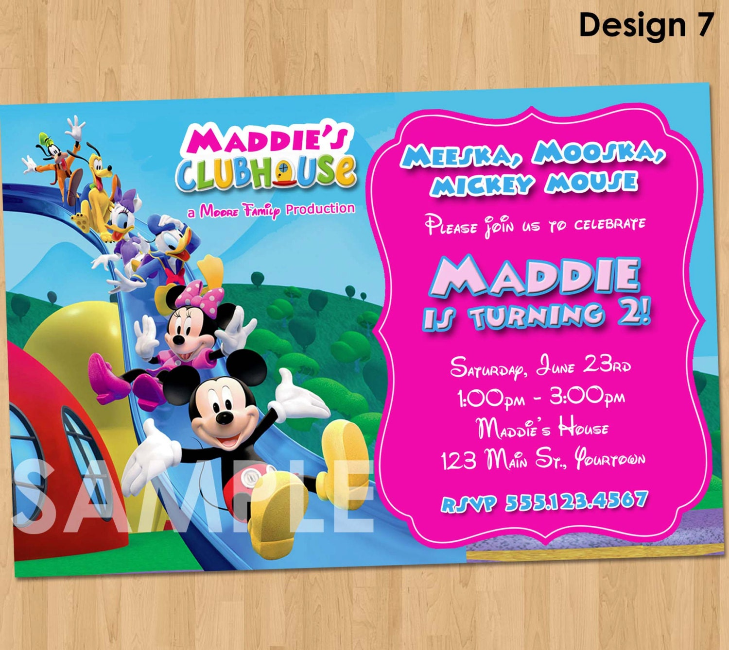 mickey mouse clubhouse party invitations printable - Etame.mibawa.co