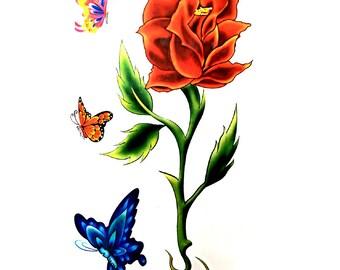 flower tattoo etsy
