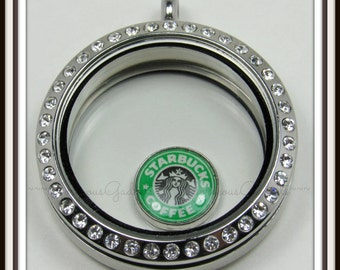 Starbucks Floating Charm for Glass Locket / Floating Locket