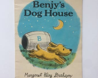 Classic Vintage Collectible Children's Book - Benjy's Dog House - by Margaret Bloy Graham - 1973