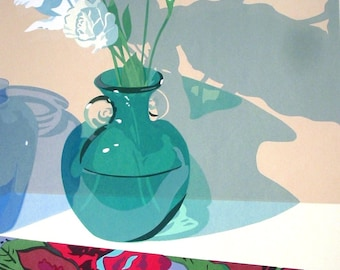 Two Blossoms, limited edition serigraph