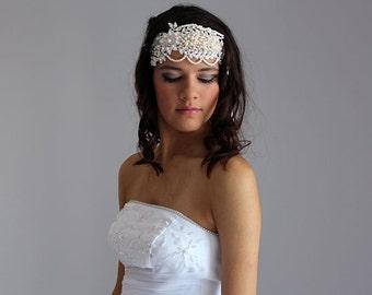 Pearl Wedding Headband, Bridal Pearl Headband, Pearl and  Rhinestone Head Piece,  Wedding Headband, Wedding  Hair Accessory