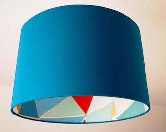 """Lampshade """"Art Deco-Petrol"""""""