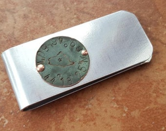 Maine State House Copper Dome Money Clip - Wedding Party - Groomsman Gift - Can Be Personalized Too - Limited Edition