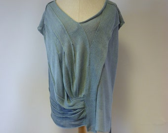 Artsy light bluse linen blouse, XXL size. Only one sample.