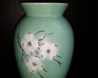 """McCoy Dogwood Vase 9"""" Tall"""