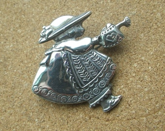 Sterling SIlver Girl with Watering Can Heart