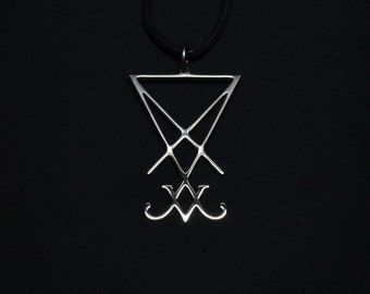 Sigil of Lucifer Pendant Seal of Satan Necklace Logo Symbol Satan