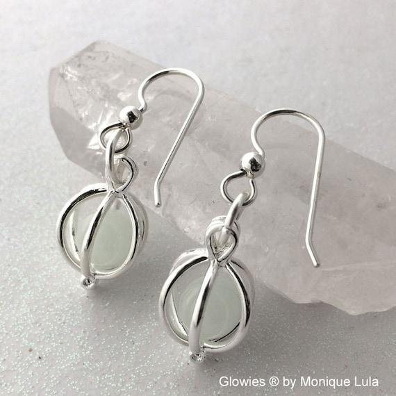 Glow Lockets® Orb Earrings Silver