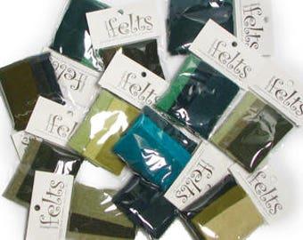 Green Chunk 12 Pack Assortment  - ADORNMENT FLAT GOODS