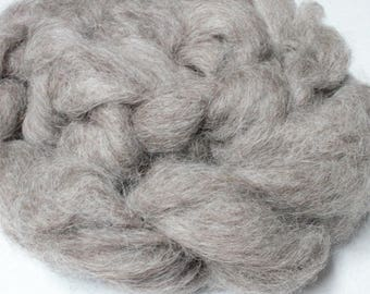 Gray/Brown Cotswold Wool Roving