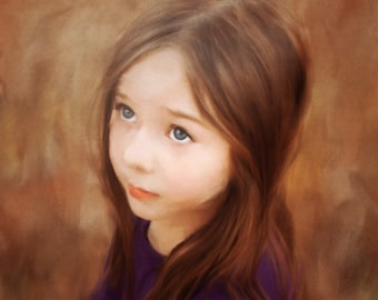 Digitally Painted oil portrait- Printed on gallery wrapped canvas