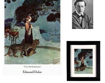 """Edmund Dulac - Circe, the Enchantress (Fine Art Print on 11.7"""" x 16.5'' Sheet)"""