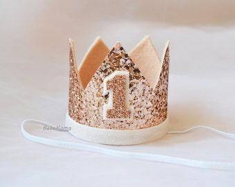 birthday crown, 1st birthday hat, felt crown, Glittery Birthday Crown, Birthday Crown, cake smash, 1st birthday, birthday girl, birthday boy