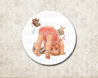 Baby Girl Shower Stickers - Shower Party Favor Stickers - Treat Bag Sticker SB012