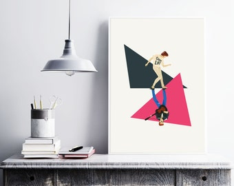 George Michael inspired Illustrated poster - The Glorious 80's - Matte and Giclee Art Prints. Music Posters - London Prints