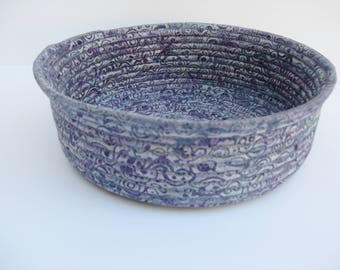 Coiled Fabric Bowl, Handmade Fabric Basket,