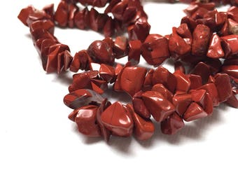 Red Jasper Chip Beads. Jasper Beads.  Brick Red. Gemstone Beads. Earth Tone. Warm. 35 inch Strand (1)