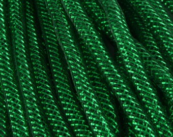 10 yards, green deco mesh tubing, deco mesh tubing, deco flex tubing, deco mesh, wreaths, wreath supplies, mesh tubing