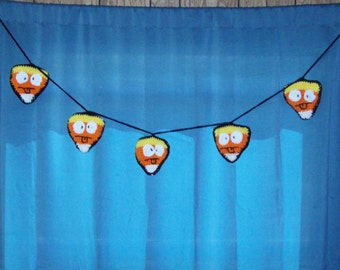 Candy Corn Banner, Halloween Decoration, Silly Face Emoji, Party Garland