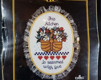 Counted Cross Stitch Kit Seasoned with Love Hoop Included UNOPENED