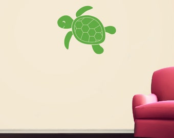 Sea Turtle Wall Decal - Nursery Children Playroom - Sea Ocean Friends Wall Decals