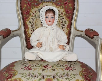 Antique German Bisque Head Doll  PM Germany by Porzellanfabrik Mengersgereuth