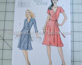 Wrap Dress Sewing Pattern, Vogue 8379 Sz 8,10,12,14 Bust 31.5 - 36