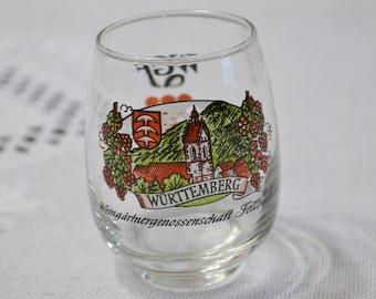 Vintage Bockling Wine Tasting Glass Set of 12 German Winery Wurttemberg Barware Glassware PanchosPorch