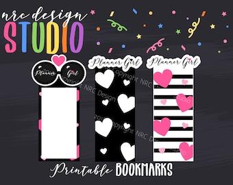 SALE Printable Bookmarks, Planner Die Cuts, Planner Bookmarks, Page Marker, Planner Girl, Journal, Notebook, Planner Accessories