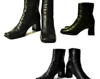 Women's boots, ankle boots, black boots, leather boots, high heel boots, womens black boots, black ankle boots, heel boots, Brazilian boots