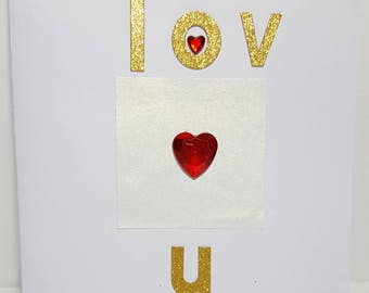 Love card, carte de voeux, hand made card, friendship card, carte d'amitié, greeting card