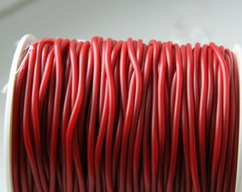 Red Rubber cord 2mm Red Hollow Rubber tubing rubber cord S 40 082