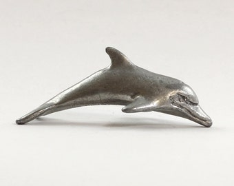 Dolphin Pewter Figurine Vintage Collectible Miniature