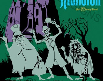 Vintage Disney World WDW Haunted Mansion Poster