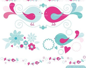 80% OFF SALE bird tweets clipart commercial use, vector graphics, digital clip art, digital images  - CL429