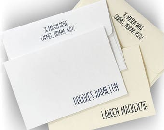 25 Contemporary Name Notes, Personalized Notes, Contemporary Notes, Personalized Name Notes, Stationery For Her |Mackenzie Notes|3982