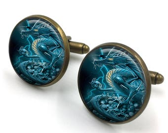 Dragon Cuff Links, Dragon Cufflinks, Dragon Jewellery, Dragon Jewelry,Men Dragon Cufflinks,Dragon Gifts for Men,gift for men,gift for him 07